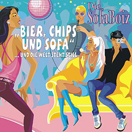 Bier Chips und Sofa